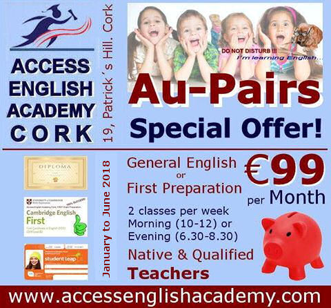 Cork English course Aupair Offer
