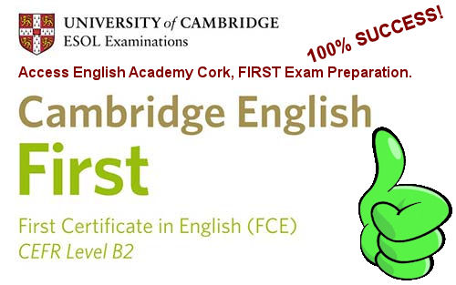 Cork English course FIRST success passed