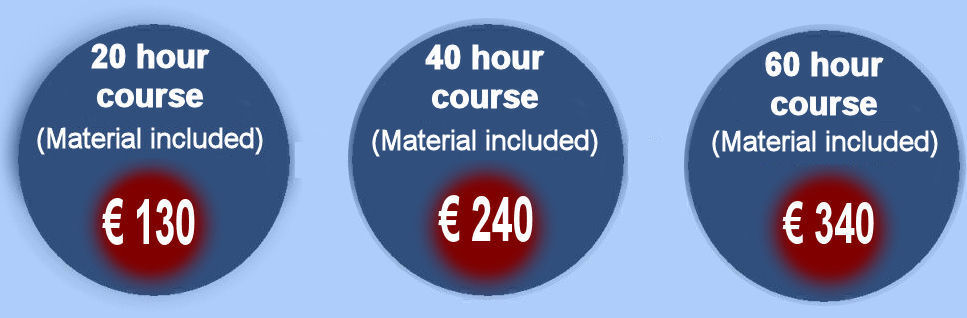 Cork course General English Prices